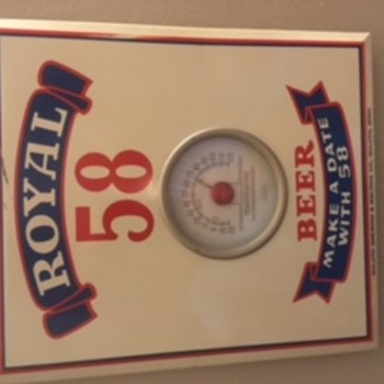 Royal 58 Beer - Wall Thermometer