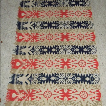 1853 Ardner Blanket made by jacquard - Rugs and Textiles