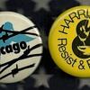 1968 Chicago DNC Chicago 7 & Harrisburg 8 Vietnam Pinback Button's