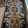 """Vintage MCM or """"Deco"""" Style Area Rug in Need of Restoration"""