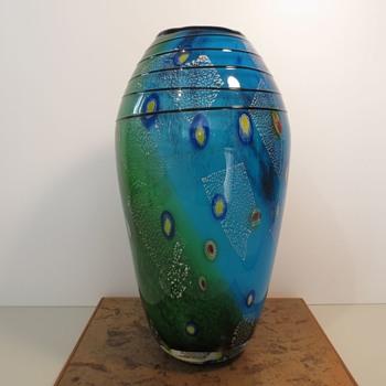 Mid Century Glass Vase - Art Glass