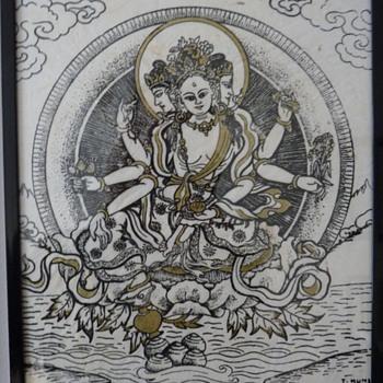 Small buddhist print. - Asian