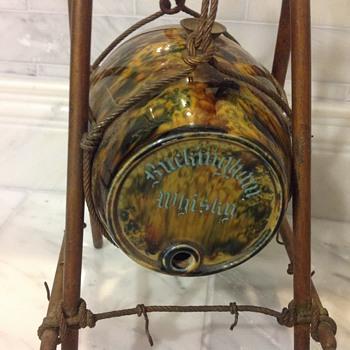Buckingham Whiskey Pottery Barrel Advertisement  - Breweriana