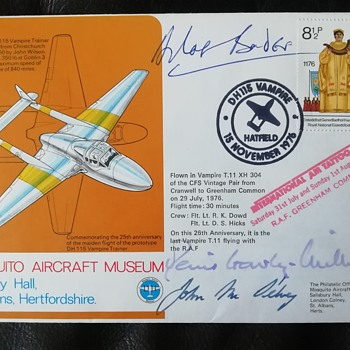 Sir Douglas Bader signed first day cover - Stamps