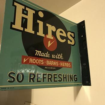 Nice Hires Root beer flange signs  - Signs