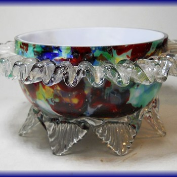 Bohemian Art Glass Bowl - Royal Art Glass - FRANZ WELZ - Art Glass