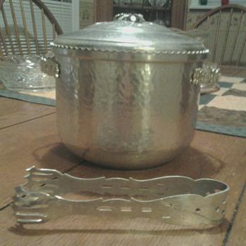 Orman Family Hammered Aluminum Ice Bucket & Tongs - Kitchen