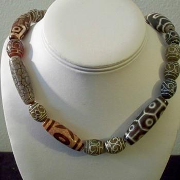Feng Shui Tibetan Dzi Stone Necklace - Asian