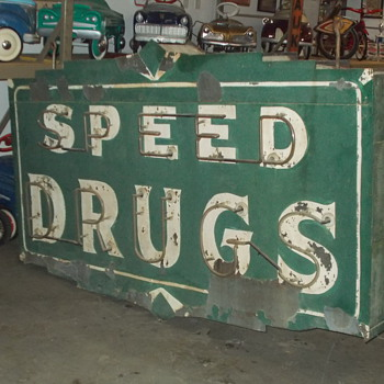 Late 1930's double sided neon sign - Signs