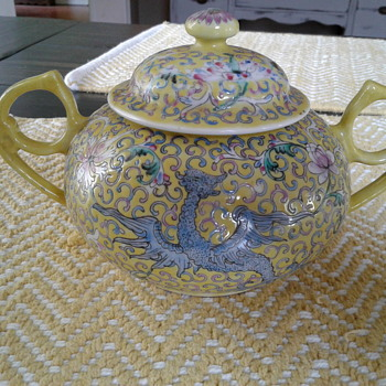 Chinese porcelain sugar bowl, please help identify
