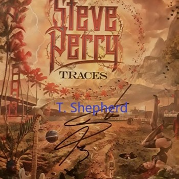 Signed Steve Perry Package, Ocean Blue Edition - Records