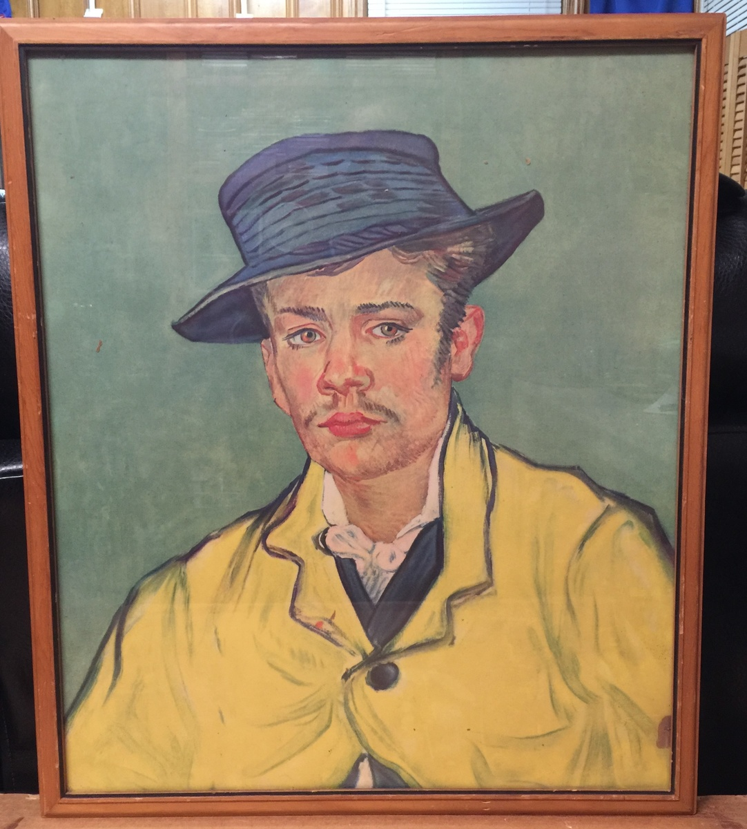 Painting Van Gogh Portrait Armand Roulin Framed Picture Art Print 9x7 Inch