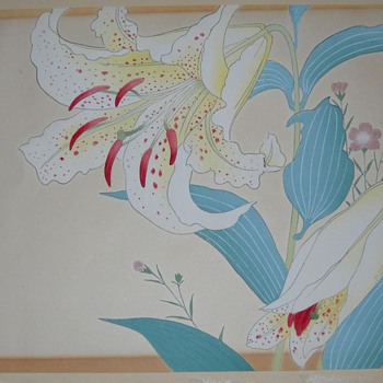 Pastel of Lillies by Sadao - Posters and Prints