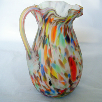 The Mystery Glass Pitcher - Real or Repro Italian? Both.... - Art Glass