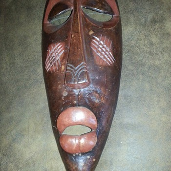 African Mask ~ estate find~  help!!!