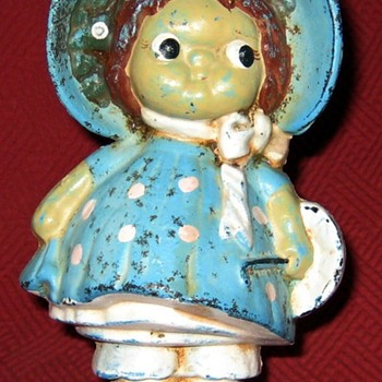 Dolly Dimple Doorstop/Still Bank - Coin Operated