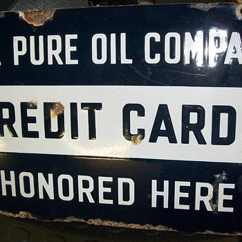 Pure Oil Co. double sided porcelain sign - Petroliana