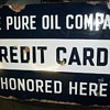 Pure Oil Co. double sided porcelain sign