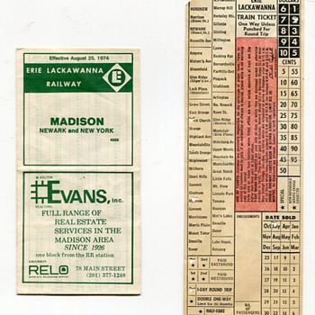 Vintage Erie-Lackawanna Commuter Items - Railroadiana