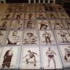 Box of 1940-60s Wrestler Exhibition Cards