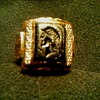 "Vintage ""Uncas"" Mfg. Co. 10K Gold Filled Men's Intaglio Pinkie Ring/ ""U"" & Arrow Mark/Circa 1930-40"