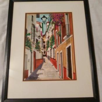 M. SESMERO WATERCOLOR  - Fine Art