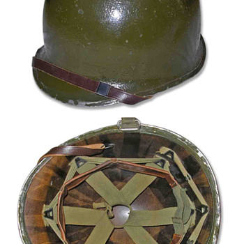 Second World War 78th Infantry Division helmet.