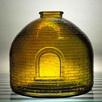1969 Anchor Hocking Glass Coin Bank Coal and Coke Museum Association of Pennsylvania Oven Kiln Replica Embossed - Coin Operated