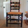 antique painted chair....