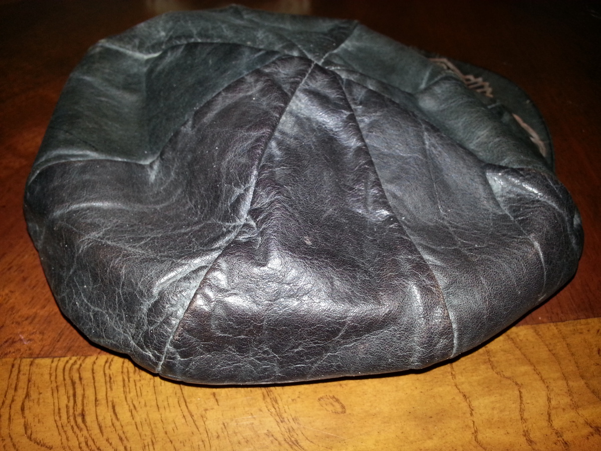 Vintage Leather Harley Davidson Cycles Beret Captains Hat