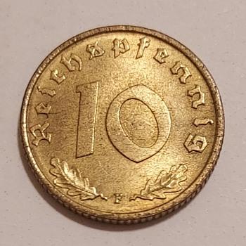 1937 Germany 10 Pfennig - World Coins