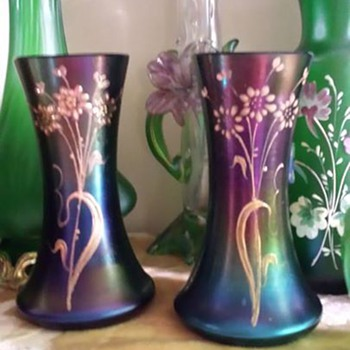 Pair of Poschinger vases - Art Glass