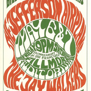 Jefferson Airplane, May 6-7, 1966, BG-05 - Music Memorabilia