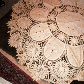 Vintage cotton tablecloth - Rugs and Textiles