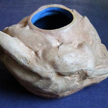 Art Nouveau Nude Pottery Vase - Pottery