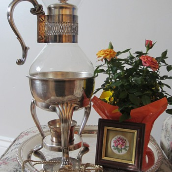 Silver plated Coffee Pot - Glassware