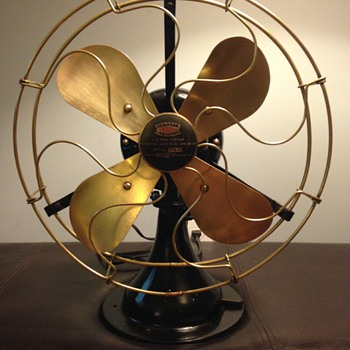 Very rare antique Stewart's Old Mint Gold Standard Brass Fan - Tools and Hardware