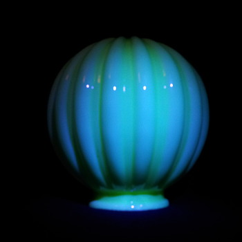 Vaseline Uranium globe 3 - Art Glass