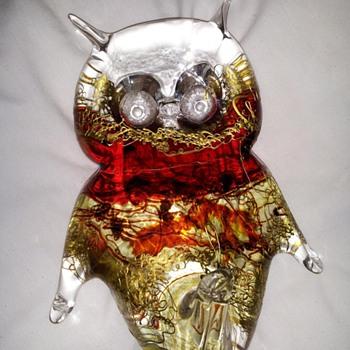 """Asja"" ""Unikat"" ""Made in Austria"" owl - Art Glass"
