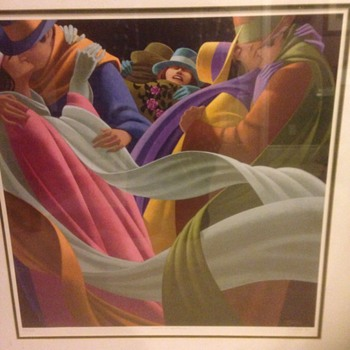 """Claude Theberge. 1934-2008 ,"""" amants d autumne """",signed and numbered print"""