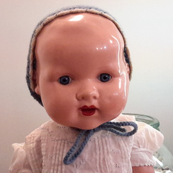 1930s English bexoid celluloid doll by Cascelloid
