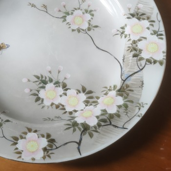 """Japanese ?  """"God pottery"""" signed plate? 1920s? - Asian"""