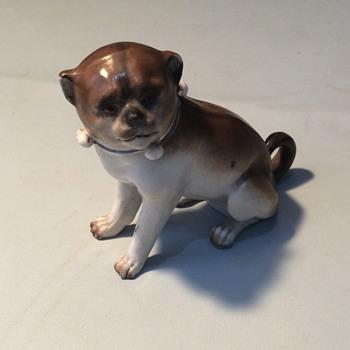 2nd pottery pug  - Figurines
