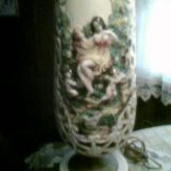 vintage glass lamp - Lamps