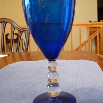Blue Goblet - Glassware