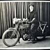 Large Antique 1913 (?) Harley Davidson Cabinet Photo