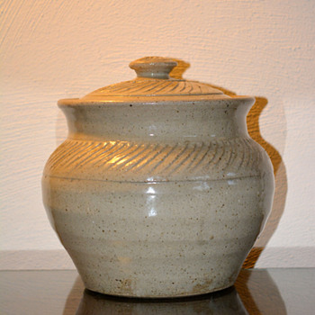 Hand Thrown Lidded Container/Bowl - Pottery