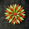 Vintage Enamel Flower Power Brooch