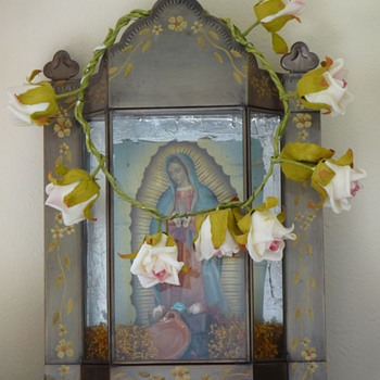 Tin Mexican Fatima Shrine - Furniture