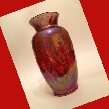 Furnace Decorated Lustre Vase - Art Glass